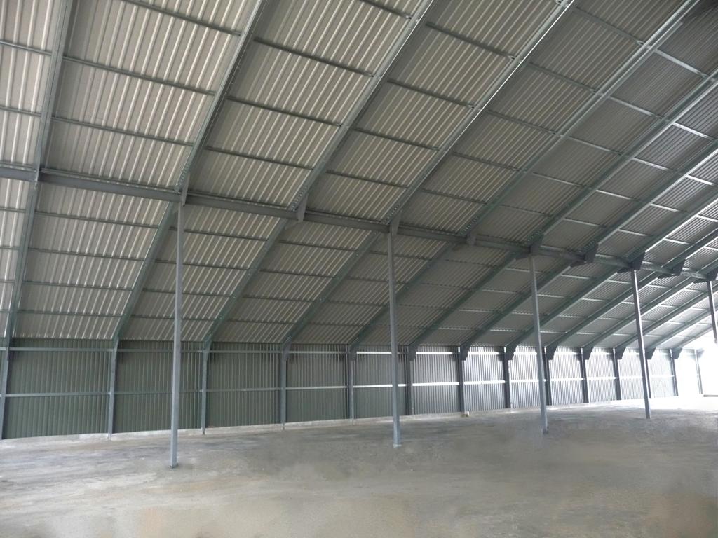 Сельскохозяйственные здания и сооружения из металлоконструкций Фото зернохранилища из профиля и металлических балок