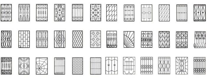 Варианты дизайна металлических решеток на окна