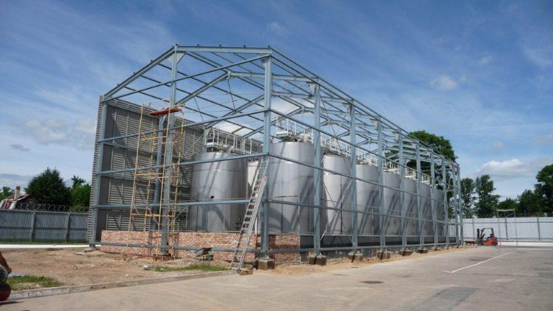 Строительство спиртохранилища в Черняховске
